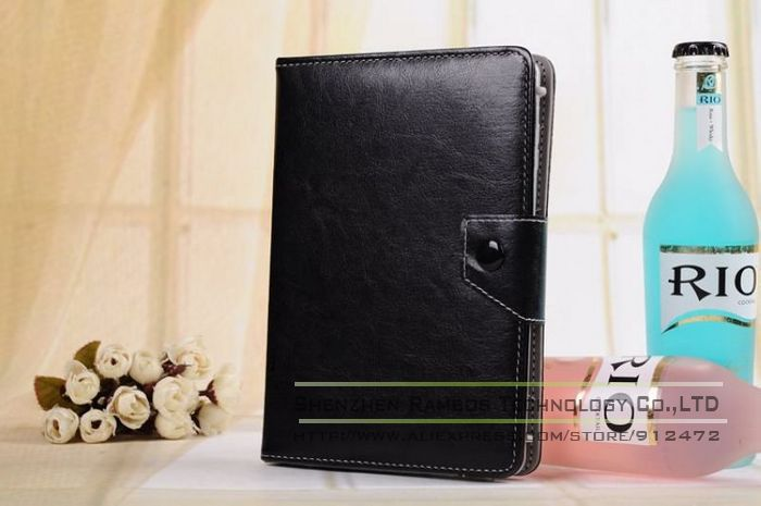 Portfolio Book Stand Universal case Capa para tablet 7 Stand Leather Flip Case Cover for 7 inch Tablets