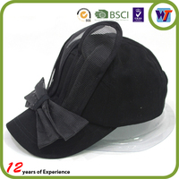 Woman Dancer Hat With Rabbit Ears Decorative Black Baseball Cap