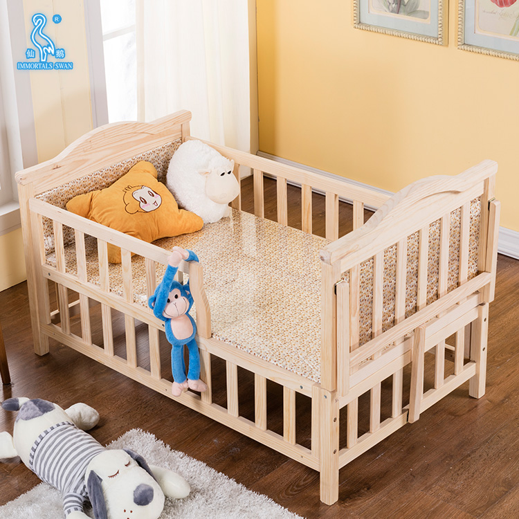 Wholesale Safety Design Solid Wood Folding Baby Playpen Bed