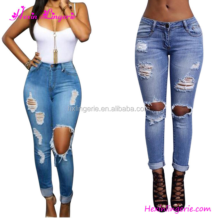 2017 Women Plus Size Jeans Butt Lift Sex Jeans