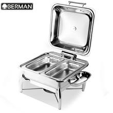 Yufeh brand stainless steel hydraulic unique silver plated chafing dish with lid for kitchen equipment philippines