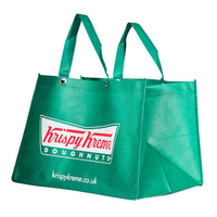 Jumbo green color non woven handles shopping packaging bag
