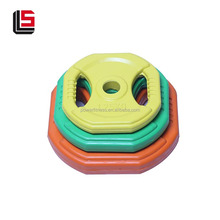 Hot selling gym equipment color rubber bumper weight plates