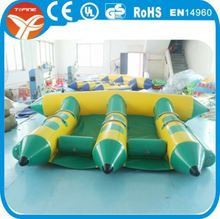 Best price inflatable flying banana, inflatable flying fish banana boat