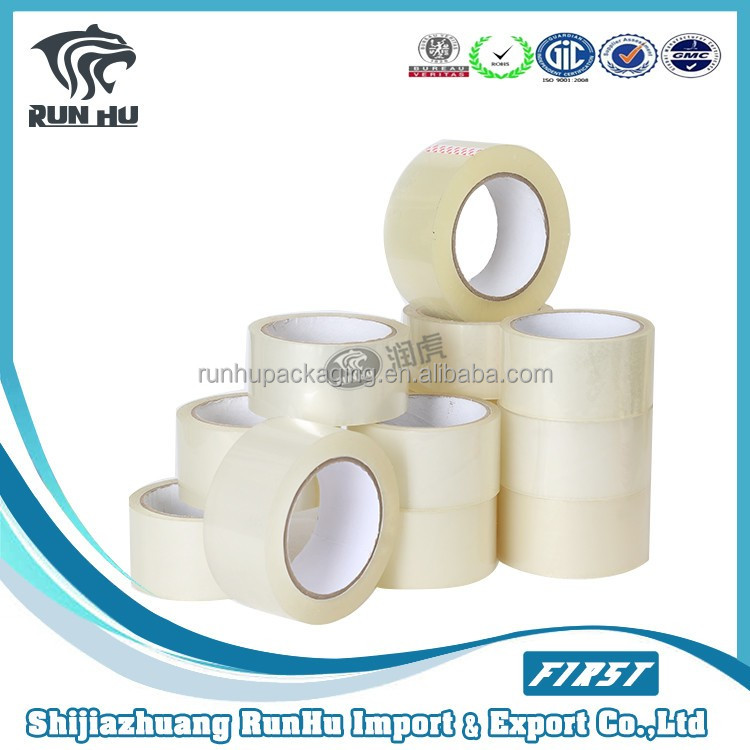 Run Hu hot sales clear adhesive packaging tapes