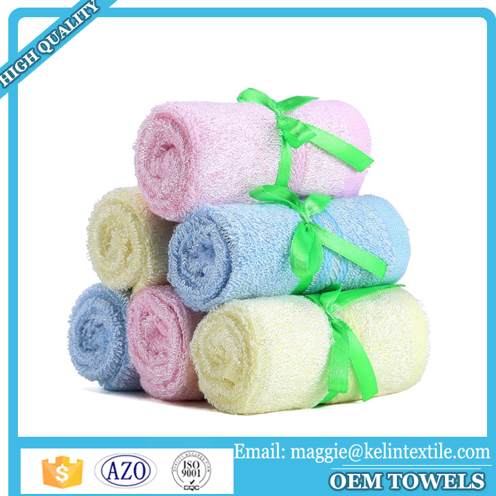 2017 Best selling eco-friendly face towel handkerchief 100% bamboo fiber terry baby towel/newborn washcloth