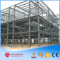 Large Span Sandwich Roof Panel and Corrugated Steel Structure Prefabricated Shed Metal Building Construction Cheap Price China