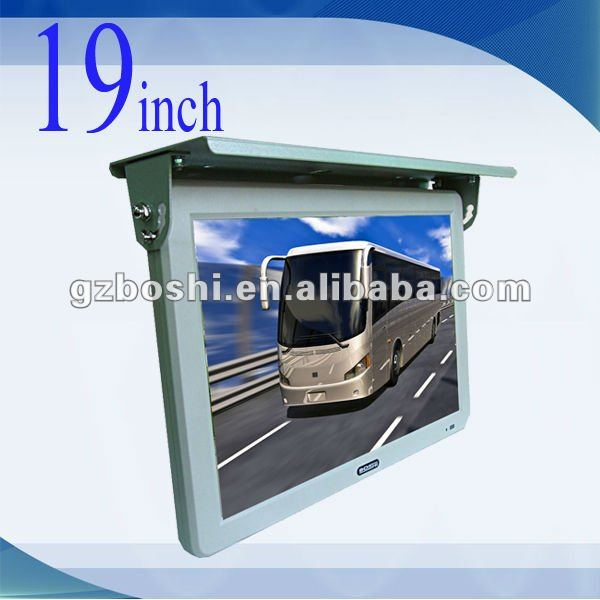 19 inch TFT LCD Bus Monitor movement car dvd player