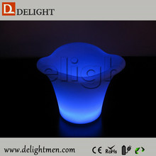 Low price glow up plastic 16 color changing illuminated outdoor ice cooler table for birtherday party