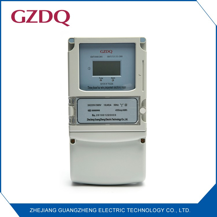 High quality smart three phase LCD digital display kwh meter electric prepaid energy meter
