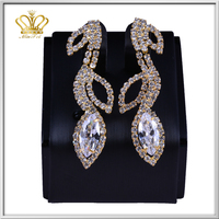 fashion gold plated pendant crystal rhinestone diamond drop earrings simple gold earring designs for women