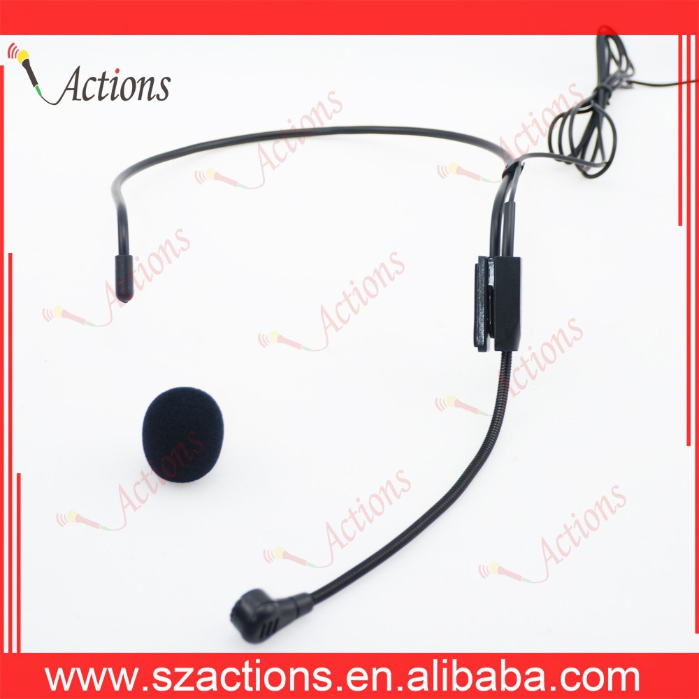 Wired Headset Microphone for Speaking or Configure for Waistband Speaker or Wireless System Bodypack