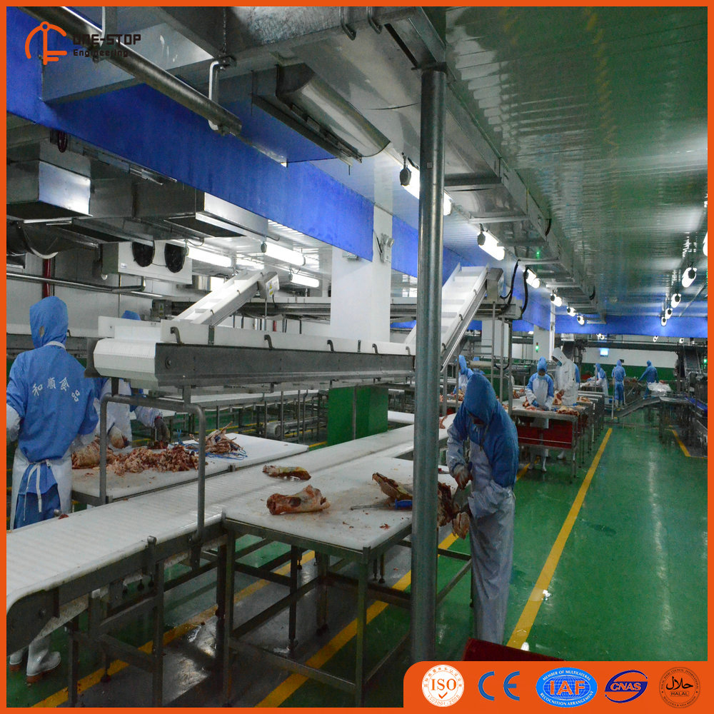 Beef Deboning Line Design Of Trimming Station Meat Processing Plant