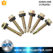 Hexagonal screw shrink tail painted hex head self drilling screw