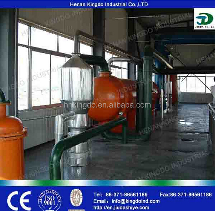 Biodiesel from vegetable oil made by biodiesel making machine