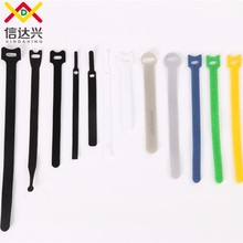 Free Sample Wholesale 100% Polyester Back to Back Hook and Loop Cable Tie