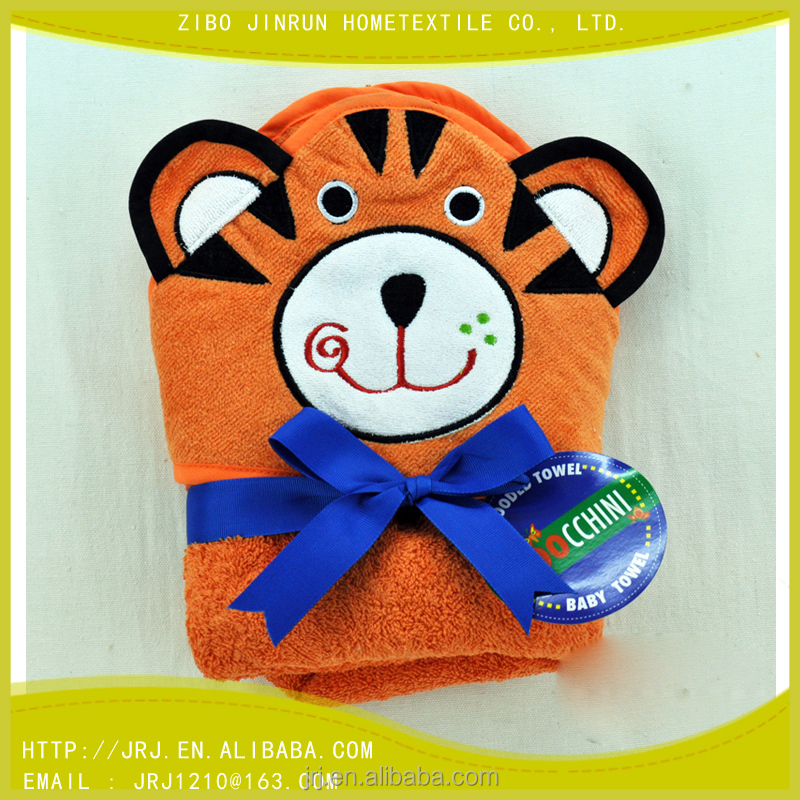 china supplier baby towels hooded towel with animal tiger design
