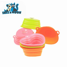 2015 New Design Plastic Suction Foldable Cup Pet Bowl