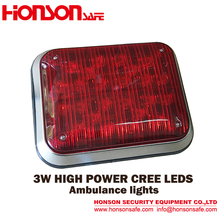 Big size Square 3W LED Warning Surface Mount Emergency Ambulance lights