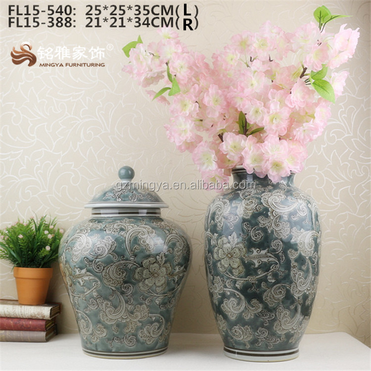 Online sale cheap price red ceramic flower vase wholesale