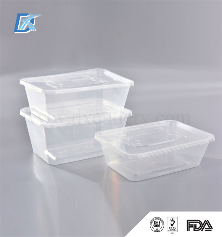 Food Grade Transparent PP Children School Lunch Box Container