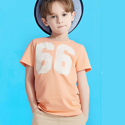 Soft and thin simply printed korea children t-shirt
