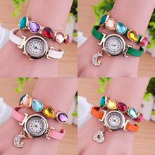 Hot Selling Crystal Leather Pendant Watch The Moon Lady Watch Fashion Star Diamond Studded Bracelet Wristwatches