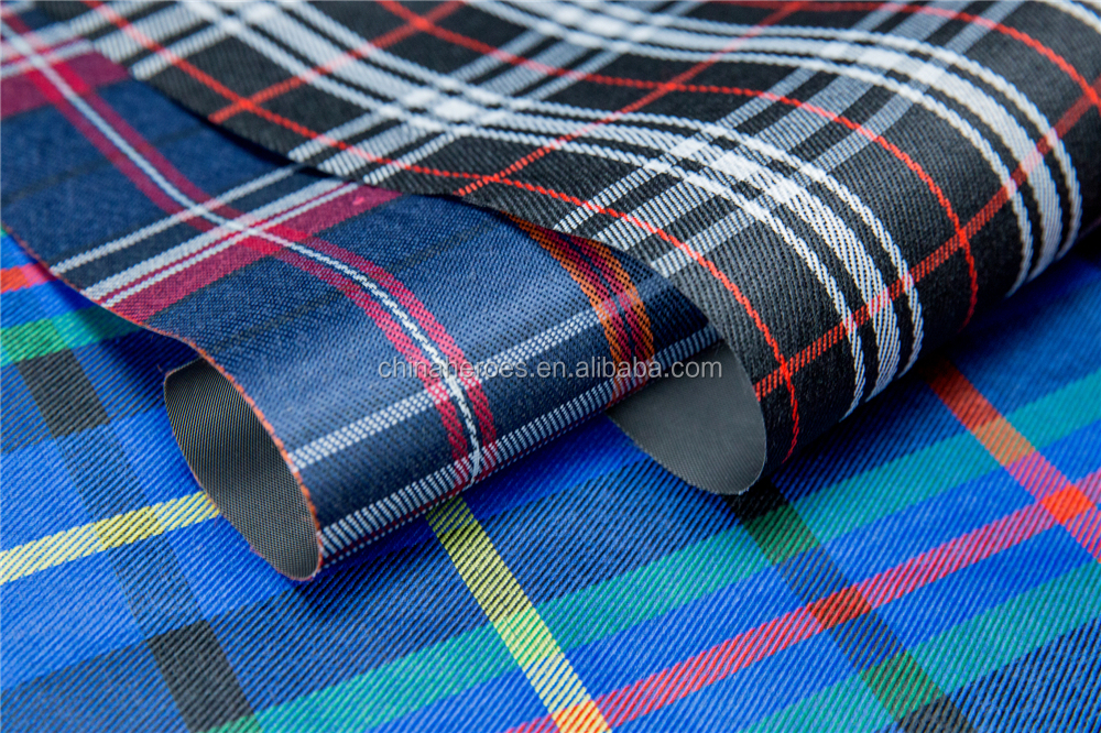 Yarn dyed check fabric waterproof for bags baggage storage