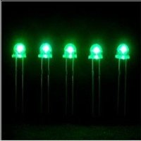 5mm Round Green Long Feet Diffused (5ag3hd0)