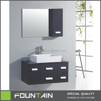Mexico Apartment Bathroom Cabinet Table with Lighted Mirror Makeup Bathroom Cheap Vanity