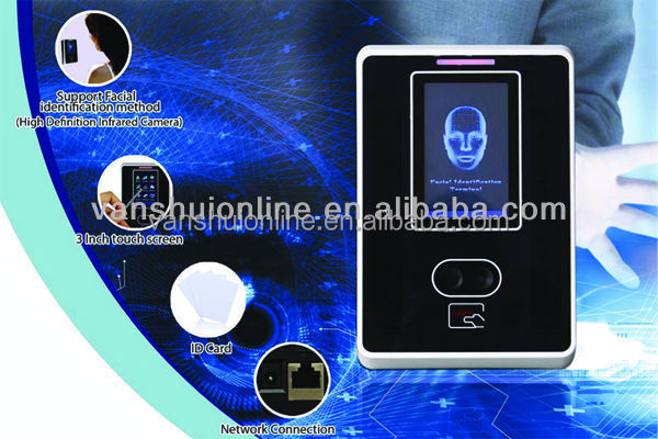 biometric face +rfid card time attendance and access control system with TCP/IP/USB port/RFID card