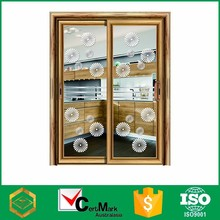 China Aluminum Frame Slide Interior Insulate Louvered Pocket Door