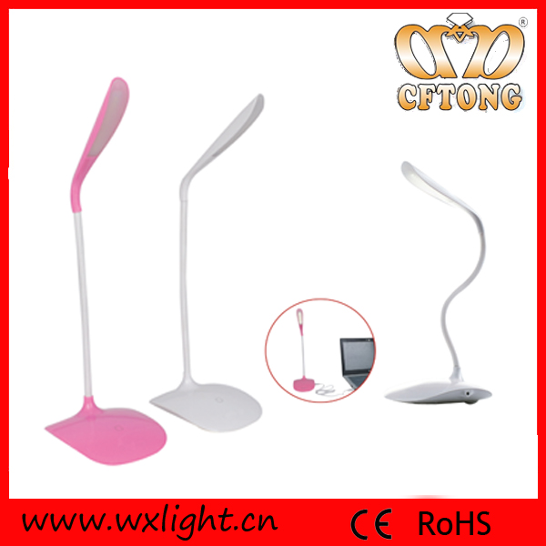 Rechargeable Table Light Cordless Brightness ABS Plastic USB Flexible 14 LED Table Light