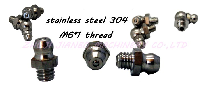 metric stainless steel grease fitting with M6*1