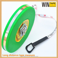 High Accuracy Low MOQ 50m 100m Green Round Retractable Tape Measure Compass