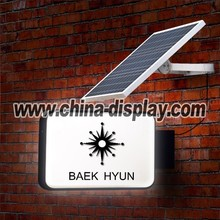 Advertising display outdoor led light solar power light box signage