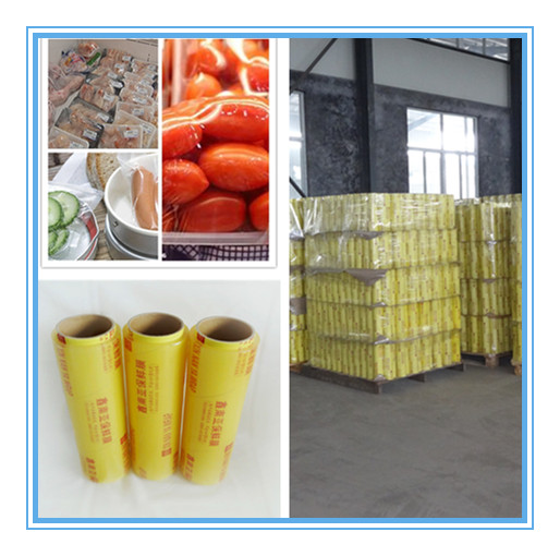 Big roll colored packaging pvc cling film for food wrap/car warp