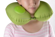 Hot selling wedge inflatable travel pillow ,Portable Head Neck Rest Pillow