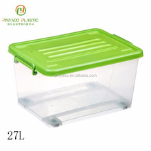 New product wholesale any size heavy-duty plastic storage box with wheels