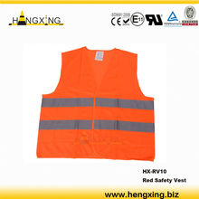 RV10 bright red high visibility safety vest