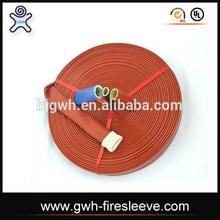 Silicone Coated Braided Fiberglass Fire Sleeve for hose and cable protect