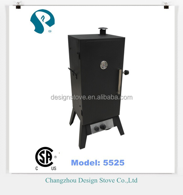Outdoor meat smoker grill