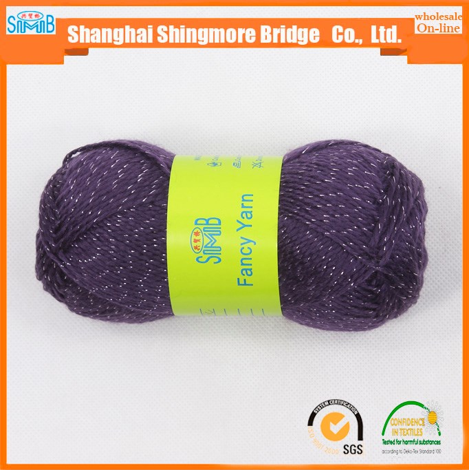 alibaba chinese textile yarn supplier shanghai smb wholesale cheap price knitting glitter yarn in high quality