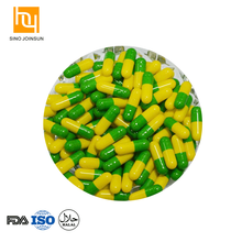 Green Yellow empty gelatin capsule size 00 safety gelatin capsule manufacturer