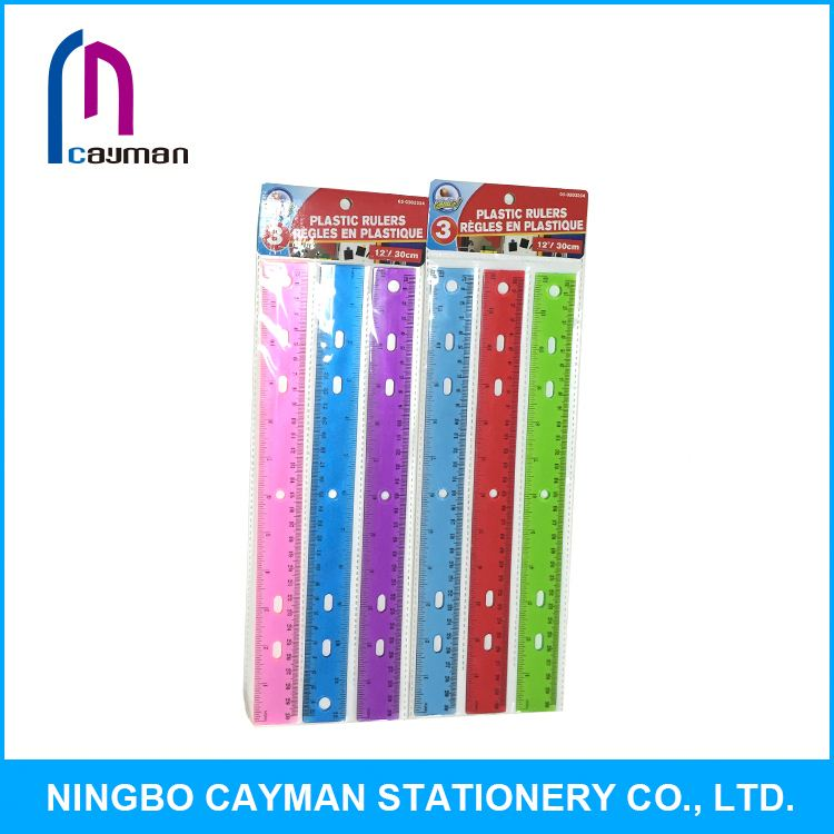 Hot selling wholesale cheap custom plastic ruler with handle