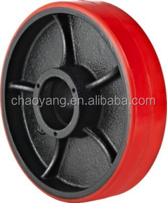 Hand Pallet Truck Wheel--PU Steer Pu Wheel dia.250*50mm