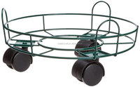 Outdoor Garden Metal Decorative Flower Pot Stand,Roller Metal Plant Caddy