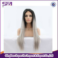 cheap stock synthetic lace wig, synthetic hair wig, wig blond