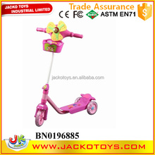 Wholesale children tricycle pink kids scooter with windmill,music and light