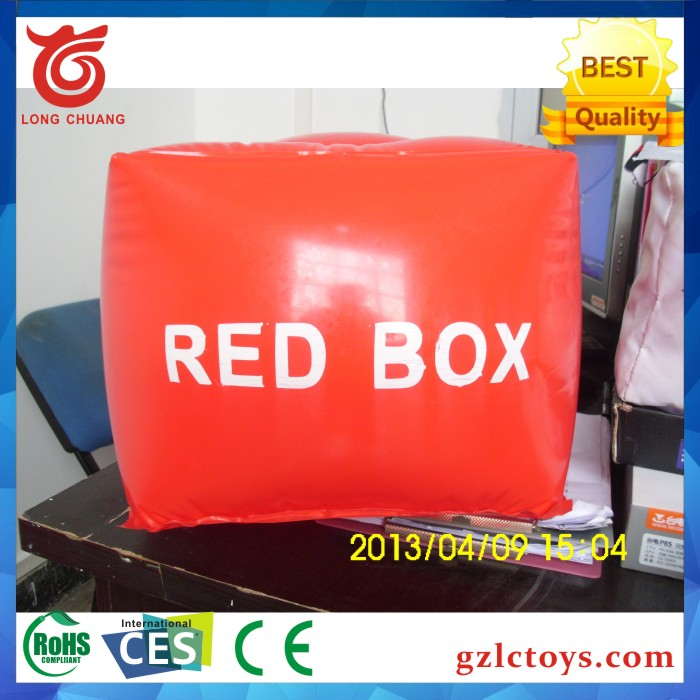 2017 promotional giant wholesale advertising inflatable cube, inflatable helium box, helium cube balloon for sale